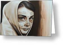 Hepburn De Los Muertos Greeting Card