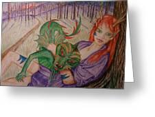 Her Dragon Greeting Card