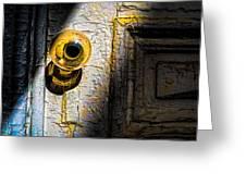 Her Glass Doorknob Greeting Card