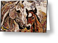 Her Little Colt Greeting Card