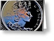 Her Majesty Elisabeth The Second  Coin Greeting Card