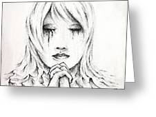 Her Prayers Greeting Card