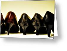 Her Shoes Greeting Card