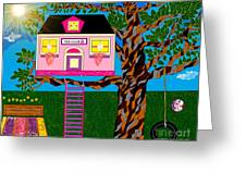 Her Tree House Greeting Card