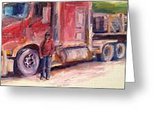Her Truck Greeting Card