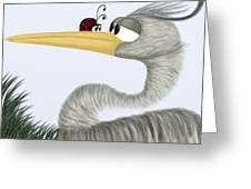 Herb The Heron And His Visitor Greeting Card
