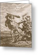 Hercules Fights The Lernian Hydra Greeting Card