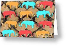 Herd Of Elephants Greeting Card by Patrick J Murphy