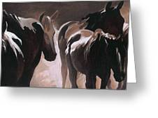 Herd Of Horses Greeting Card by Natasha Denger