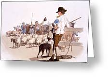 Herdsmen Of Sheep And Cattle, From The Greeting Card by William Henry Pyne
