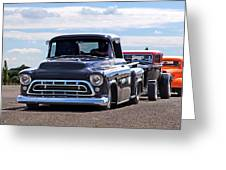 Here Come The Hot Rod Boys Greeting Card