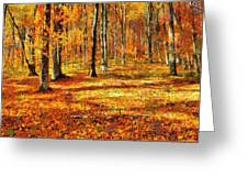 Here Comes Fall Greeting Card