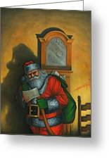 Here Comes Santa Claus Greeting Card