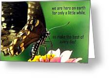 Here Only A Little While Greeting Card