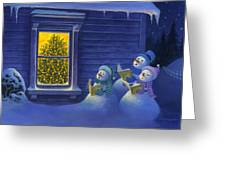 Here We Come A Caroling Greeting Card