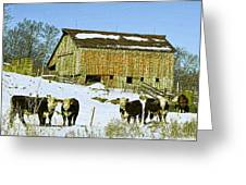 Hereford Barn Painting Greeting Card