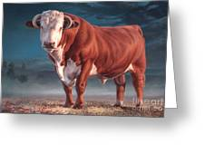 Hereford Bull Greeting Card