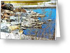 Hereford Inlet Rock Formations Greeting Card