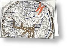 Hereford Mappa Mundi With Detail Upszed  Greeting Card