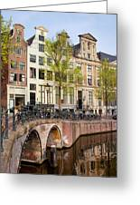 Herengracht Canal Houses In Amsterdam Greeting Card