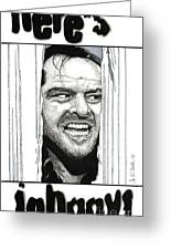 Here's Johnny Greeting Card