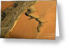 heridas de tierra Aerial photography Greeting Card