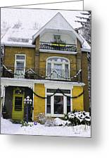 Heritage Home In Yellow Greeting Card