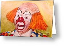 Watercolor Clown #9 Herky The Clown Greeting Card