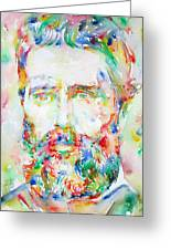 Herman Melville Watercolor Portrait.1 Greeting Card