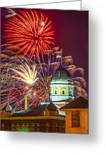 Hermann Mo Courthouse On July 4th Greeting Card