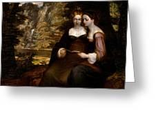 Hermia And Helena Greeting Card