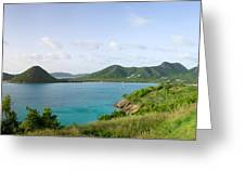 Hermitage Bay Panorama Antigua Greeting Card