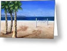 Hermosa Beach Pier Greeting Card