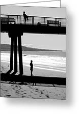 Hermosa Pier On A Clear Day Greeting Card