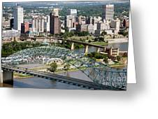 Hernando-desoto Bridge Memphis Greeting Card