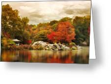 Hernshead In October Greeting Card
