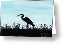 Heron Has Supper Greeting Card