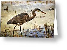 Heron On A Cloudy Day Greeting Card