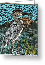 Heron On Connor Creek Greeting Card