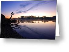 Heron Sunrise On The Bon Secour Greeting Card