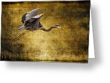 Heron Texturized Greeting Card