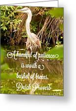 Heron With Quote Photograph  Greeting Card