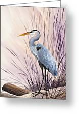 Herons Driftwood Home Greeting Card