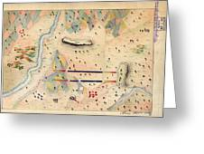 Herreras Map Of A Mexican War Campaign 1848 Greeting Card