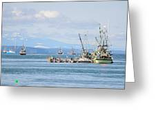 Herring Fleets Qualicum Beach Greeting Card