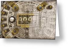 Herring Hall Marvin Co. Bank Vault Door Lock Greeting Card