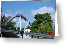 Hershey Park - Great Bear Roller Coaster - 121214 Greeting Card by DC Photographer
