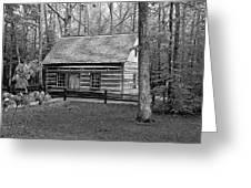 Hesler Log Home 10234b Greeting Card