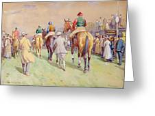 Hethersett Steeplechases Greeting Card by John Atkinson