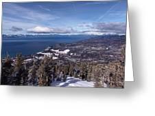Hevenly Ski Resort In South Lake Tahoe Greeting Card